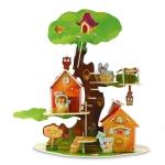 บ้านต้นไม้ tree house green โมเดล 3 มิติ, จิ๊กซอร์ 3มิติ Super model 3D Puzzle