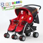 C10191 รถเข็นเด็ก น้องคู่แฝด ฺBaby I Love รุ่น703R สีแดง