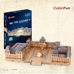 The Louvre LED มีไฟประกอบ Cubicfun 3D puzzle DIY LED The Louvre Paper Model Creative Handmade Model Figure Educational Toys, Kids Toys, Puzzle 3D Toy