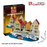 Bergen Norway แบร์เกน Size 15.7*29.8*14.8 cm Total 44 pcs.