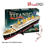 Titanic Royal Mail Ship Model Size 45*6*13 cm. Total 35 pieces