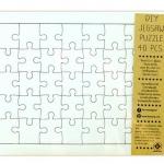 Jigsaw DIY จิ๊กซอว์การ์ดพื้นขาว ออกแบบเองได้ จำนวน 40 ชิ้น ขนาด18x25.5 cm.(ขนาดตัวจิ๊กซอว์ ประมาณ 3ซม.)