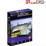 The WhiteHouse US เป็นสื่อการเรียนการสอน และของตกแต่งบ้าน ประกอบง่าย วัสดุปลอดภัย ขนาด 20.2*15.6*16.2 cm. มีไฟ LEDประดับสวยงาม