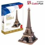 Eiffel Tower(France) หอไอเฟล หอคอยโครงสร้างเหล็กตั้งอยู่บนชองป์ เดอ มารส์ Model Size: 39 cm * 36 cm * 78 cm Total 82pieces