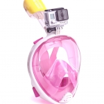 Easy Breath snorkeling mask - Size S/M - [ ชมพู ] (Sea Travel)