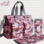 TP12055 กระเป๋าเก็บขวดนม สัมภาระคุณแม่สีลายดอกไม้