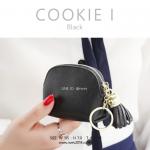 กระเป๋าสตางค์ ใส่เหรียญ รุ่น COOKIE I สีดำ