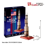 Sears Tower วิลลิสทาวเวอร์ CubicFun 3D Puzzle 51 Pieces Size 26*19*63 pcs.