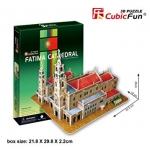 Fatima Cathedral โบสถ์พระแม่มารีแห่งฟาติมา Size 32.5*18*26 cm Total 47 pcs.