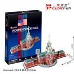 Independence Hall อินดิเพนเดนซ์ฮอลล์ CubicFun 3D Puzzle 43 Pieces Size 48*18*31 pcs.