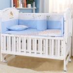 B10142 เตียงนอนเด็กไม้สีขาว (WW1) รุ่นอเนกประสงค์ปรับใช้ได้หลายฟังชันส์