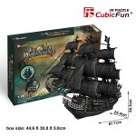 Queen Anne's Revenge (Large) CubicFun T4018h 3D Puzzle Total 308 Pieces ขนาด 67.7*25.4*64.3 cm.