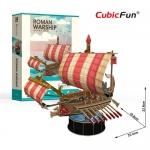 Roman Warship 50-49 B.C. Roman Size 23.4*19.8*22.9 cm. Total 85 pcs.