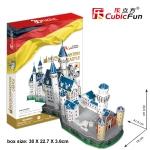 Cubicfun 3D Puzzle 98pcs New Swan Stone Neuschwanstein Castle 41.5*18*33.5CM Germany Building MC062H-2