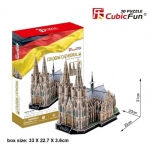 Cologne Cathedral อาสนวิหารโคโลญ size 35*20*31cm. Total 194 pcs.