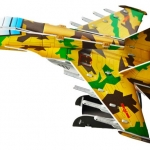 Chinese J11B Fighter สีเหลือง Puzzle โมเดลตัวต่อกระดาษโฟม จิ๊กซอร์ 3มิติ