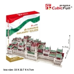 Cubic Fun 3D Puzzle Hungarian Parliament Building Model 50*24*16.2 CM. 237 Pieces