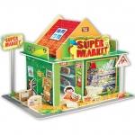 Supermarket 3D Puzzle Model โมเดล 3 มิติ ร้านซุปเปอร์มาเก็ต