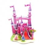 Pink Fortress Super Model 3D puzzle ตัวต่อกระดาษโฟม โมเดล 3มิติ จิ๊กซอร์ 3มิติ