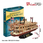 Mississippi Steamboat Model Size 46*10*24 cm. Total 142 pcs.