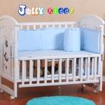 B10135 (WD1) เตียงนอนไม้สีขาว