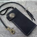 กระเป๋าหนังแท้ใส่แบงค์แฮนด์เมด A4 (มีชิ้นเดียว)
