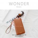 กระเป๋าสตางค์ผู้หญิง รุ่น WONDER สีน้ำตาล