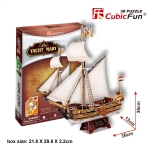 Mary yacht Cubic Fun 3D Puzzle Size 36*13*36 cm. Total 83 pcs