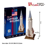 Chrysler Building(U.S.A) ตึกไครสเลอร์ Total: 70 pcs Model Size: 18*18*50 cm