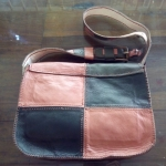 กระเป๋าหนังแท้สะพานข้าง (Handmade)