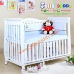 B10246 เตียงนอนไม้สำหรับเด็ก White Premium (WD4)