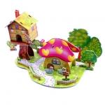 Mushroom House Castle House Puzzle โมเดลตัวต่อกระดาษโฟม จิ๊กซอร์ 3มิติ รูปบ้านเห็ด