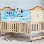 B10142 เตียงนอนเด็กไม้สีขาว (WT1) รุ่นอเนกประสงค์ปรับใช้ได้หลายฟังชันส์