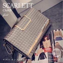 กระเป๋าคลัชท์ผู้หญิง รุ่น SCARLETT สีทอง