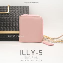 กระเป๋าสตางค์ผู้หญิง ILLY-S สีชมพูอ่อน