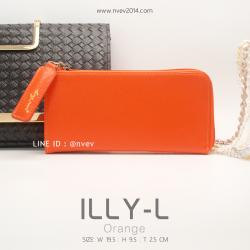 กระเป๋าสตางค์ผู้หญิง ILLY-L สีส้ม