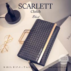 กระเป๋าคลัชท์ผู้หญิง รุ่น SCARLETT สีดำ