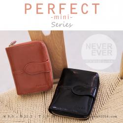 กระเป๋าสตางค์ผู้หญิง รุ่น PERFECT-mini สีน้ำตาล ใบสั้น