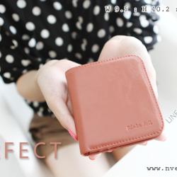 กระเป๋าสตางค์ผู้หญิง PERFECR Slim สีชมพูมีท