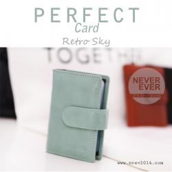 กระเป๋าใส่บัตร รุ่น PERFECT Card สีฟ้า