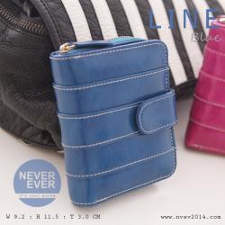กระเป๋าสตางค์ผู้หญิง LINE สีน้ำเงิน ฟ้าน้ำทะเล Blue Ocean