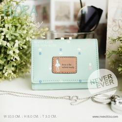 กระเป๋าสตางค์ผู้หญิง FLORA-Sky