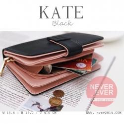 กระเป๋าสตางค์ผู้หญิง รุ่น KATE สีดำ ขนาดกลาง