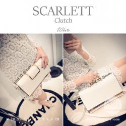 กระเป๋าคลัชท์ผู้หญิง รุ่น SCARLETT สีขาว