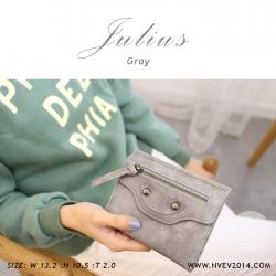 กระเป๋าสตางค์ผู้หญิง JULIUS สีเทา