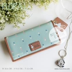 กระเป๋าสตางค์ผู้หญิง FLORA-L-Sky