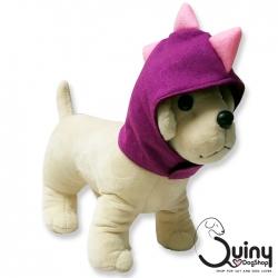 หมวกสุนัข ไดโนเสาร์ สีม่วง