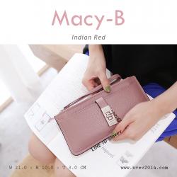 กระเป๋าสตางค์ผู้หญิง ทรงถุง รุ่น MACY-B สีแดง อินเดีย