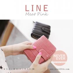 กระเป๋าสตางค์ผู้หญิง LINE สีชมพูอ่อน Meat Pink