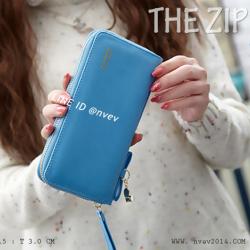 กระเป๋าสตางค์ผู้หญิง รุ่น THE ZIPPER-Blue สีฟ้า